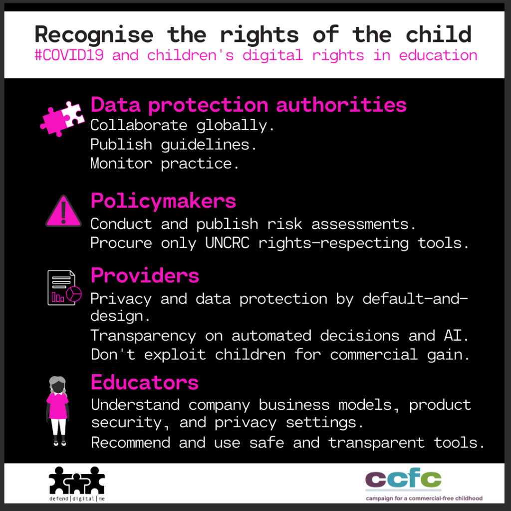 summary of asks to recognise the rights of the child